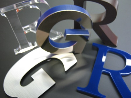 3d mounted letters and signs bugden signs for Small plastic letters for signs